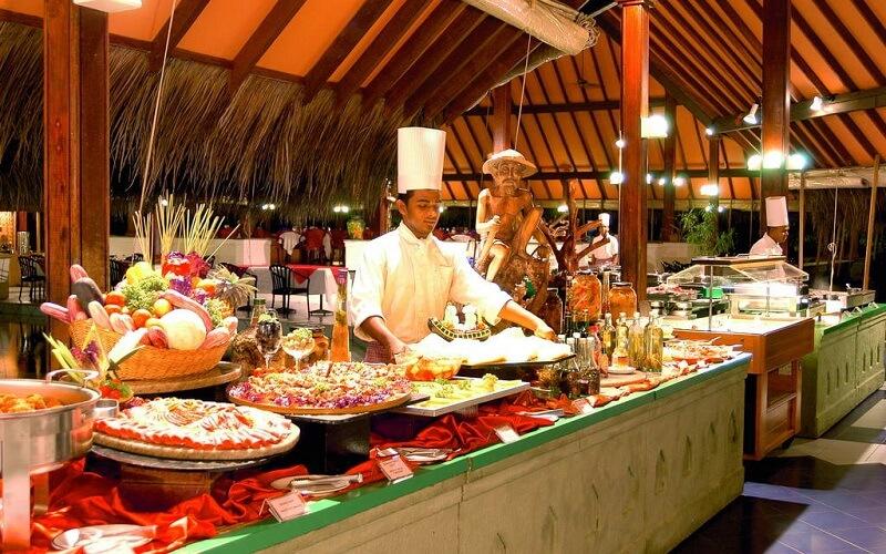 ресторан в Adaaran Club Rannalhi 4*, Мальдивы