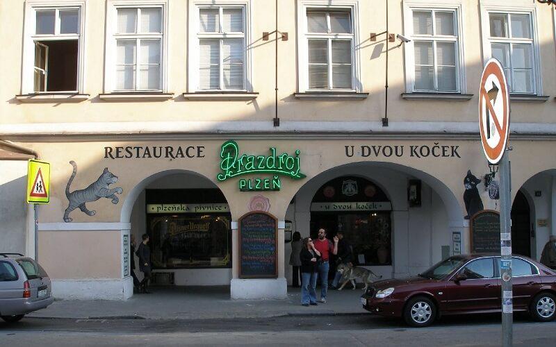 ресторан «У двух кошек»  в Праге