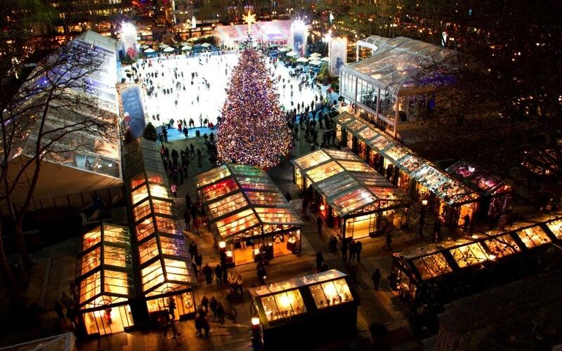 Columbus Circle Holiday Market, Нью-Йорк, США