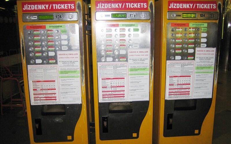 автомат продажи билетов в Праге