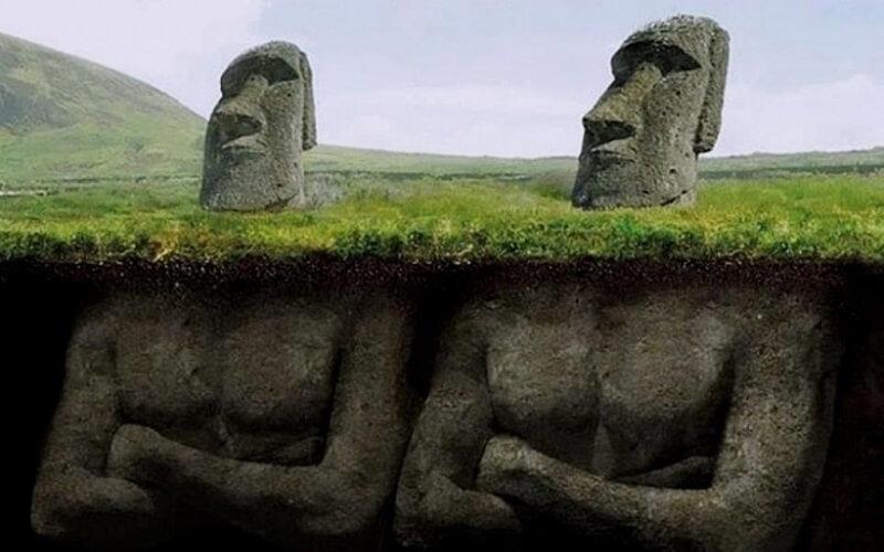 загадки построения статуй Моаи