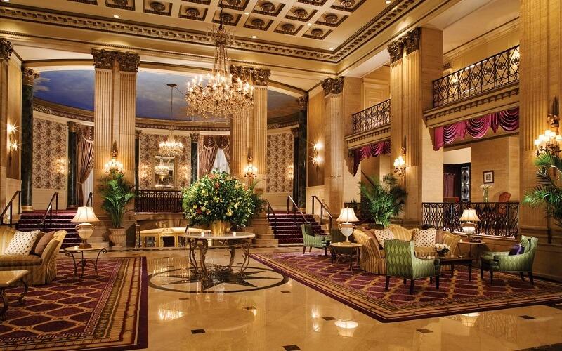 лобби в Roosevelt Hotel 3*, Нью-Йорк (США)