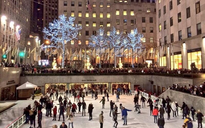 Празднование Рождества в Нью-Йорке, США
