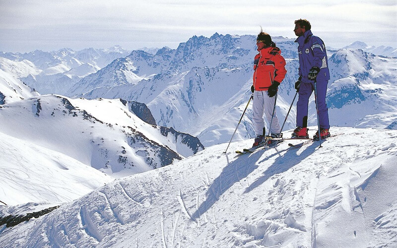 катание на лыжах в Австрии