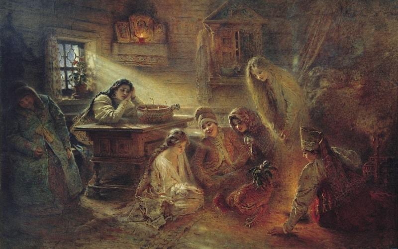 святочные гадания в древности