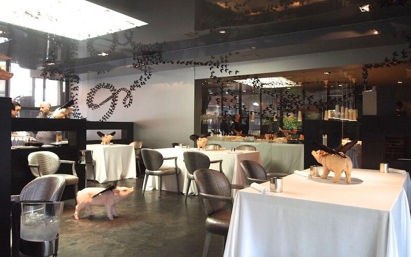 интерьер ресторана Diver XO в Мадриде, Испания