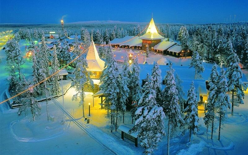 деревня Йоулупукки в Финляндии