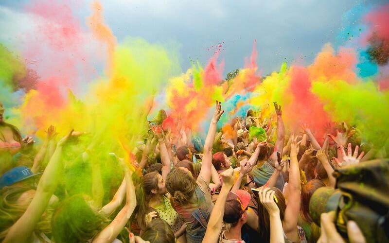Фестиваль Холи в Полтаве