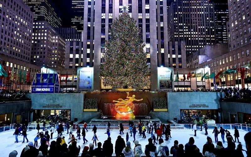 новогодняя ёлка в Нью-Йорке