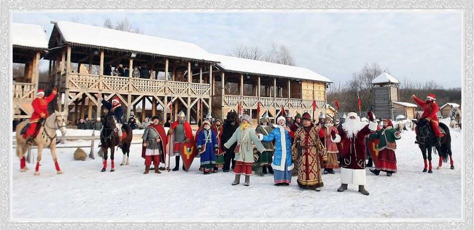 у парку «Київська Русь» резиденція Діда Мороза