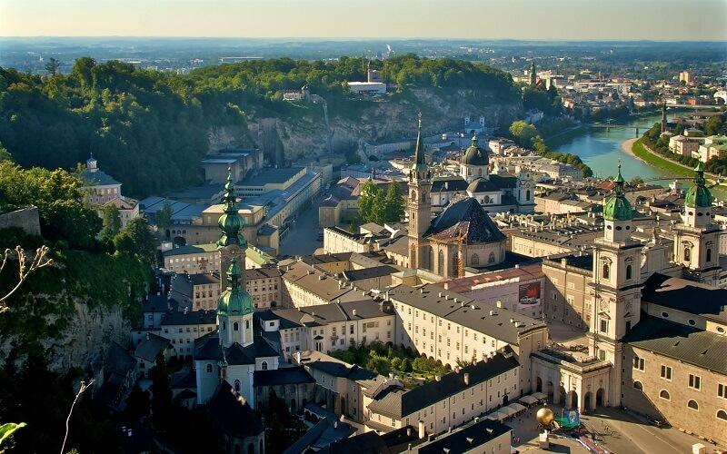 город Зальцбург в Австрии