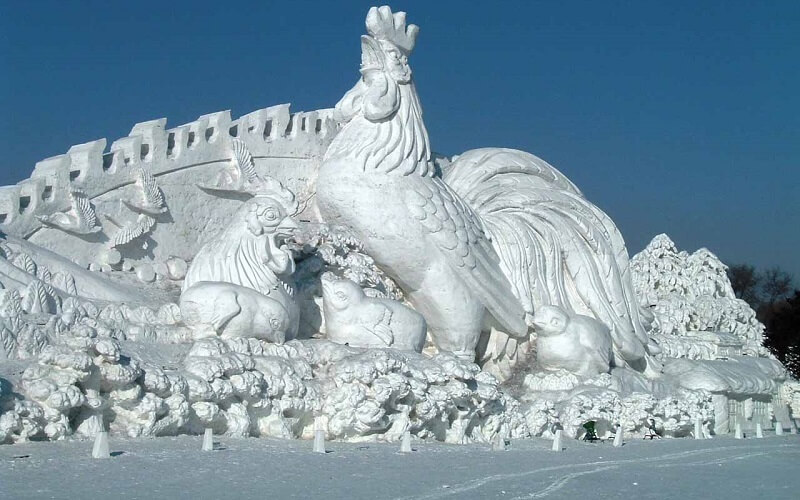 крижана скульптура в Китаї