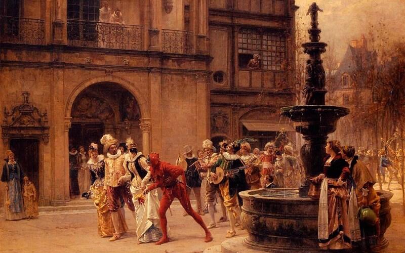 венеціанський карнавал у середньовіччя