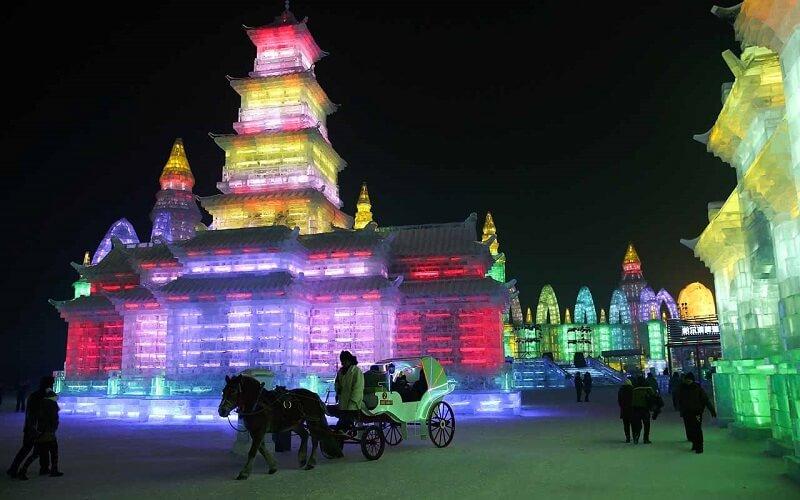 достопримечательность Китая зимой