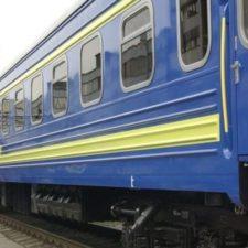 новый поезд с новыми вагонами
