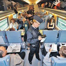 прохождение пограничного контроля в поезде