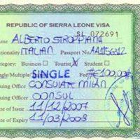 Віза до Сьєрра-Леоне