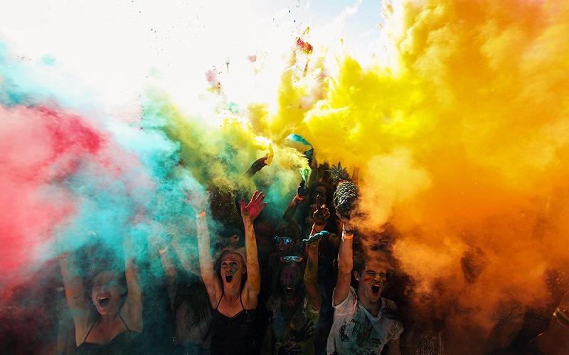 фестиваль красок в Киеве