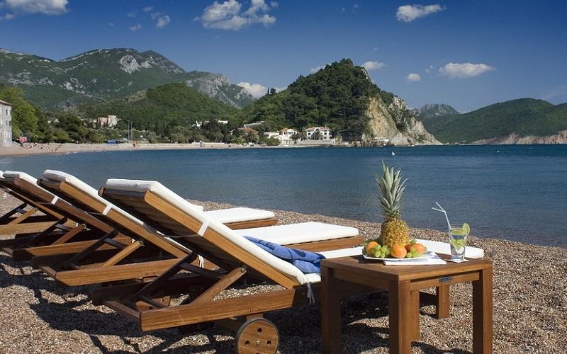 Пляж Monte Casa Spa & Wellness 4*, Петровац, Чорногорія
