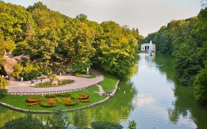 озеро в Софиевском парке