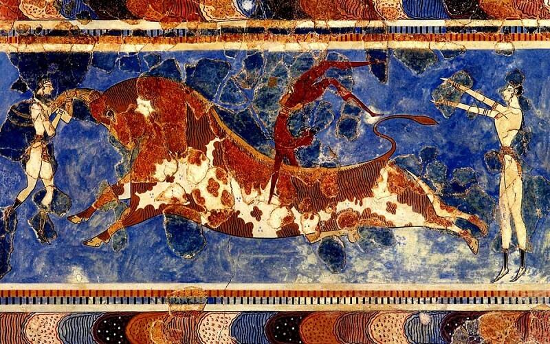 Фреска про Мінотавра