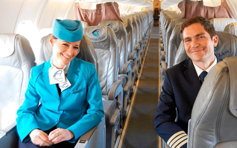 салон літака авіакомпанії Adria Airways