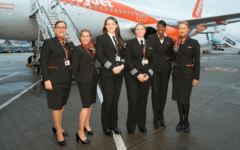 экипаж авиакомпании EasyJet