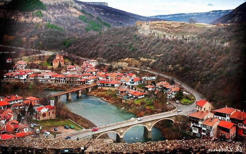 Місто Велико-Тирново в Болгарії
