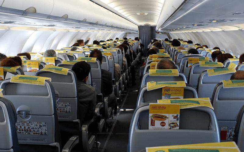салон літака авіакомпанії Pegasus