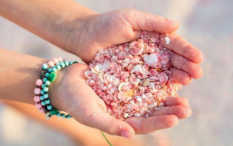 Рожевий піщаний пляж на Багамських островах