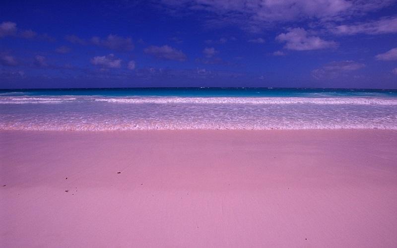 Рожевий піщаний пляж, Багамські острови