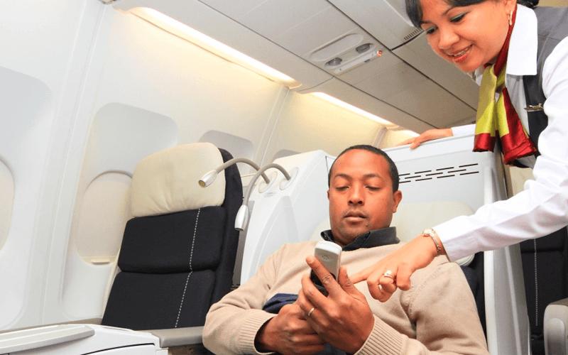 салон самолета авиакомпании Air Madagascar