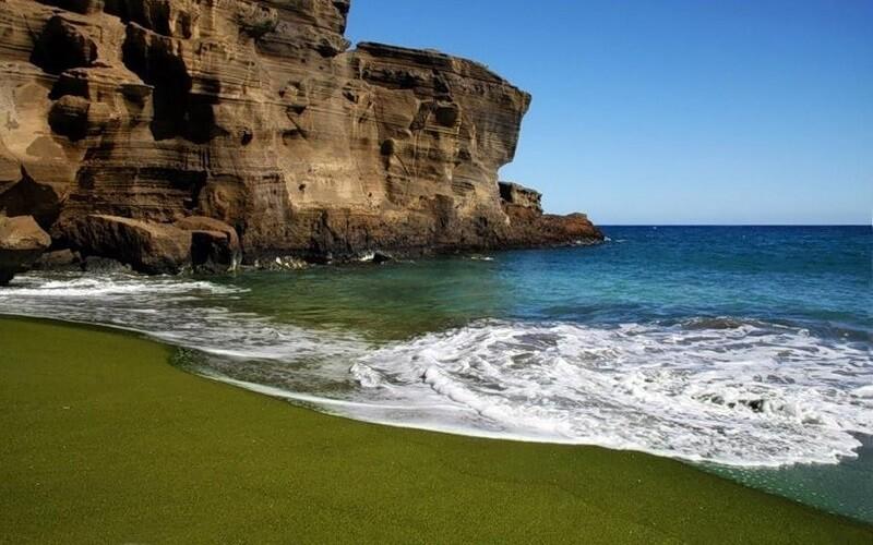 Зелений пляж Папаколеа, Гаваї