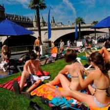 Бассейны на канале в Париже