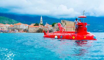 В Черногории предлагают экскурсию на субмарине