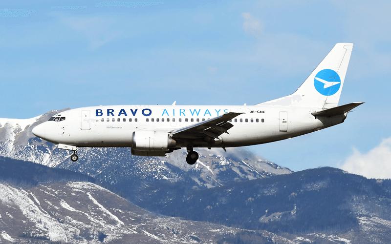 Літак авіакомпанії Bravo Airways