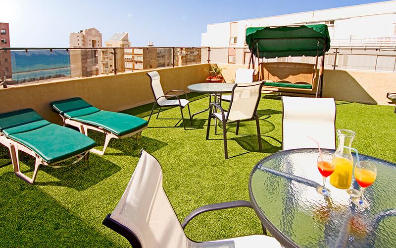 Зона отдыха на крыше, Mizpe Yam 3*, Нетания, Израиль