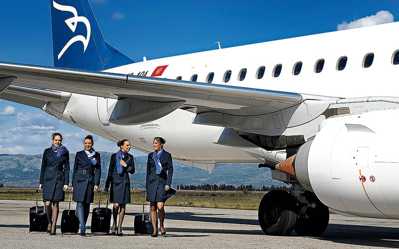 экипаж авиакомпании Montenegro Airlines