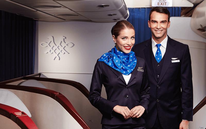 экипаж авиакомпании Air Serbia