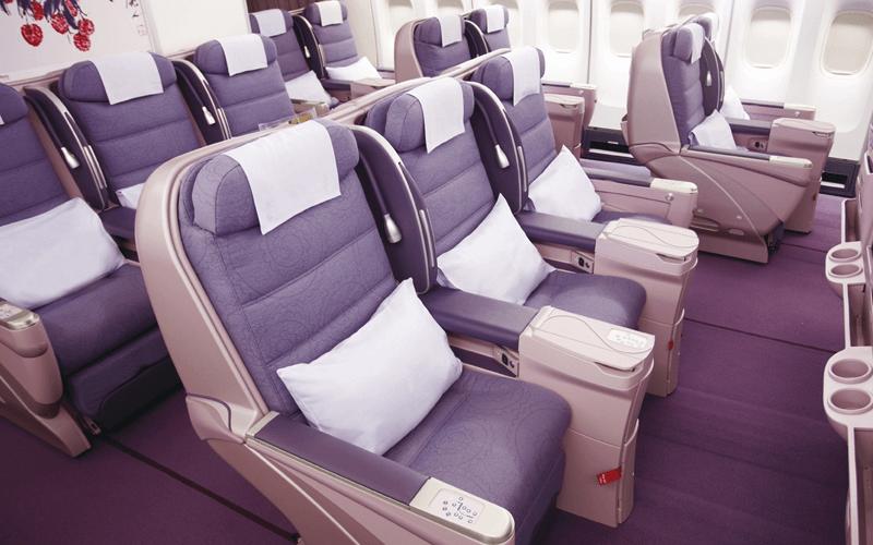 салон літака авіакомпанії China Airlines