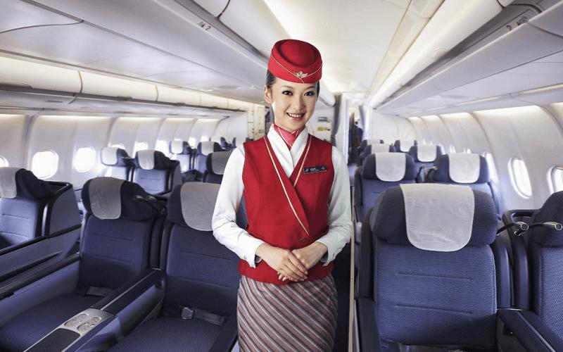 салон літака авіакомпанії China Southern Airlines