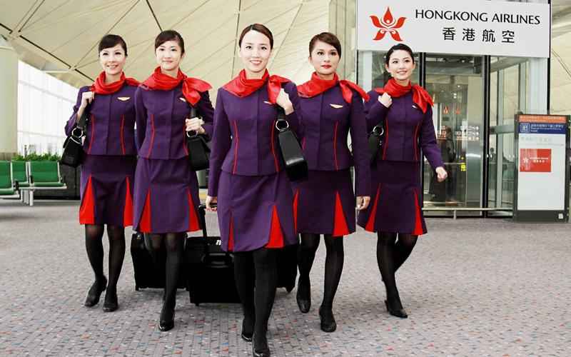 экипаж авиакомпании Hong Kong Airlines