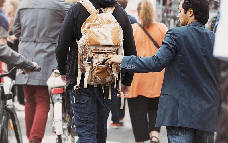 крадіжка гаманця з рюкзака