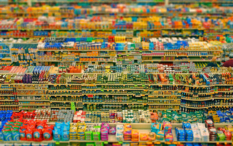 Продукти в магазинах Америки