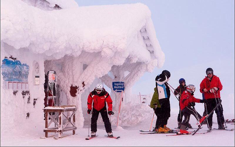 Лыжный отдых в ноябре в Швеции