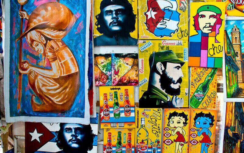 Портреты Че Гевары на Кубе