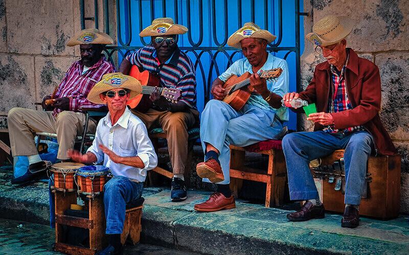 Музыканты на Кубе