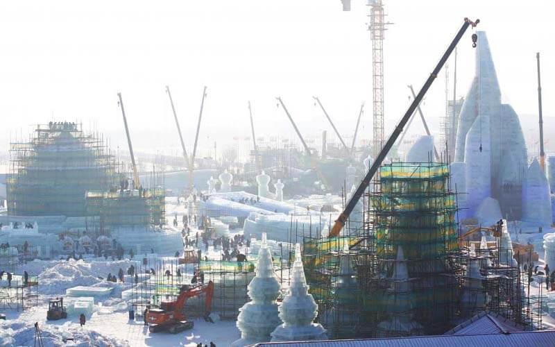 Строительство фигур в Харбине