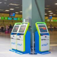 В «Жулянах» установлены киоски для регистрации на рейс