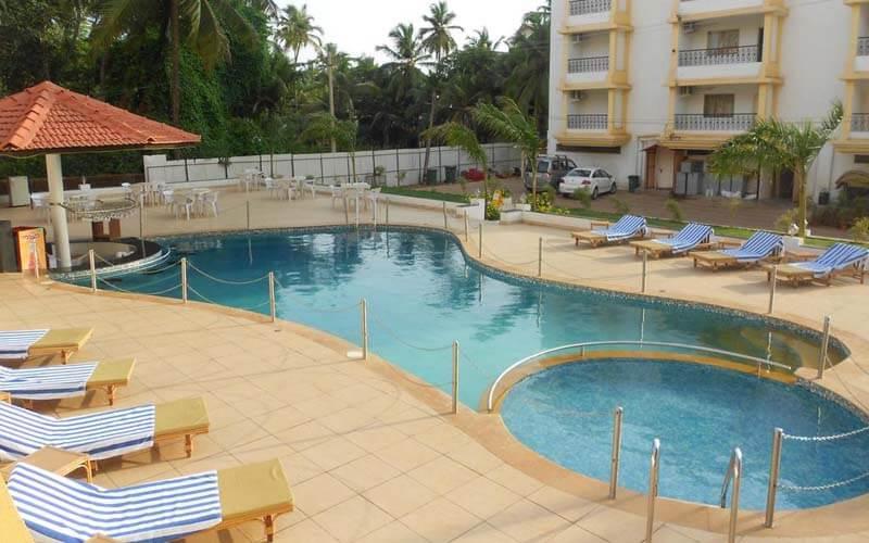 Бассейн в Colva Kinara Hotel 3*, Южный Гоа, Индия